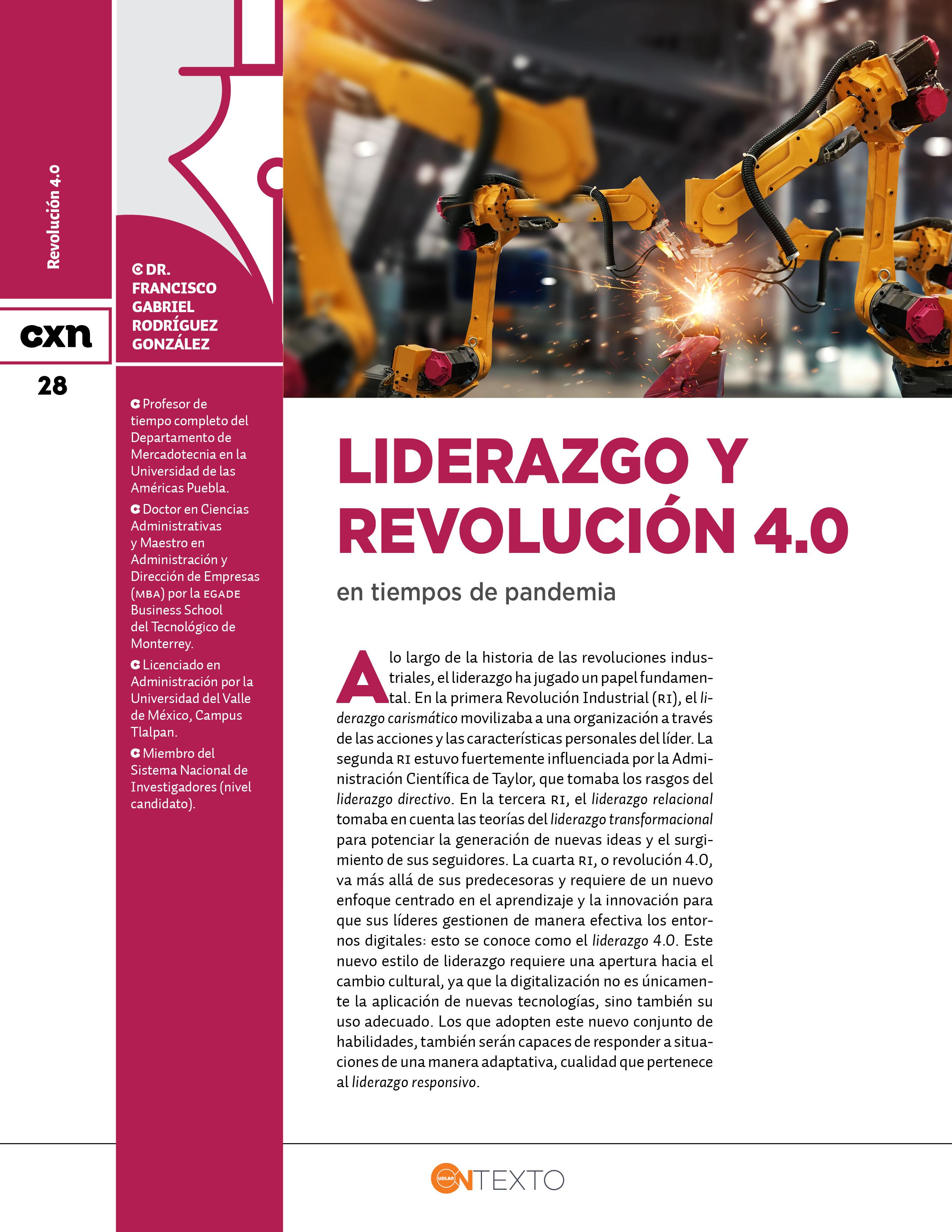 Liderazgo y revolución 4.0 en tiempos de pandemia Conexion UDLAP